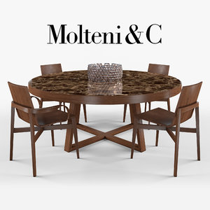 molteni c chairs table 3D model