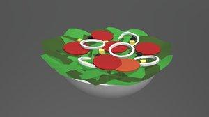 3D salad food