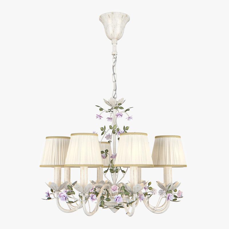 chandelier 785080 aiola lightstar 3D