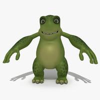 3D cartoon monster model