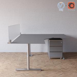 flexline office topdeq 3D model