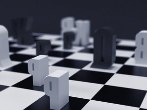 3D typographic chess