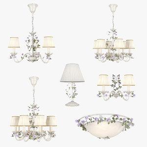 3D model chandelier aiola lightstar lamp