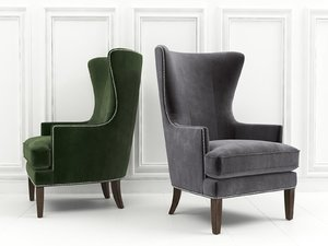 whitney accent chair 3D