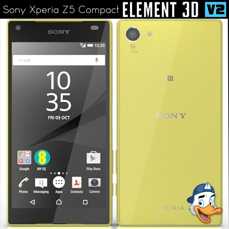 sony xperia z5 compact 3D model
