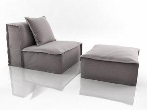 3D fedde fauteuil model