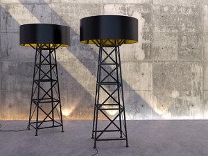 3D model construction lamp