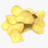 3D potato chips 02 model