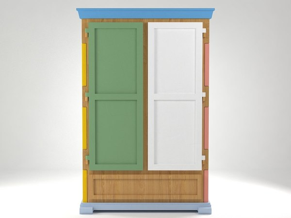3D paper cupboard model