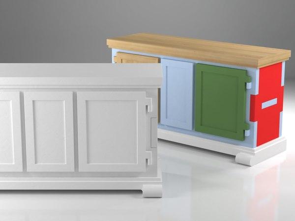 paper buffet 3D model
