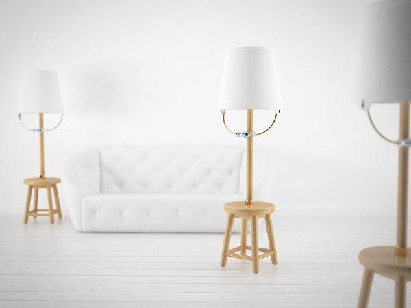3D model bucket lamp