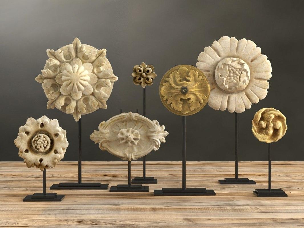 architectural ornaments 3D model