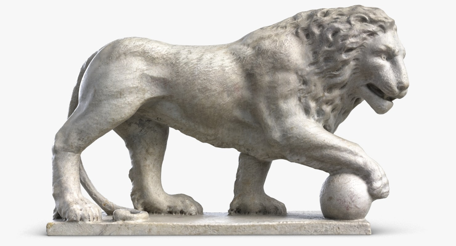 3D model lion sculpture 5
