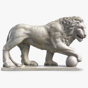 3D model lion sculpture 5