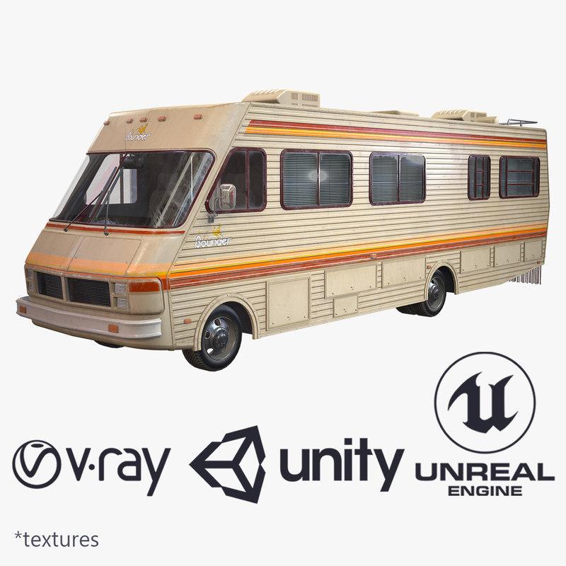 ready fleetwood bounder 1986 3D model