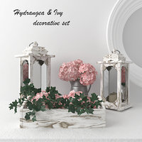 decorative set - hydrangeas 3D