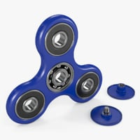 3D fidget spinner blue