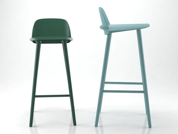 nerd bar stool 3D model