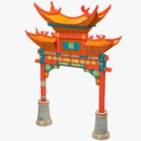 Stylized Chinese Gate V1