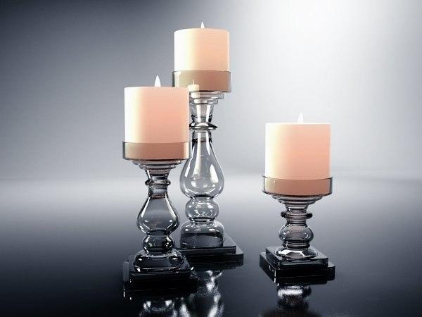 glass candlesticks 3D model