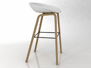stool hay 3D model
