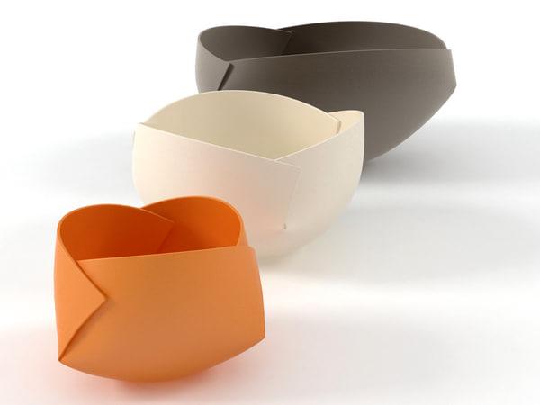 3D folded bowls