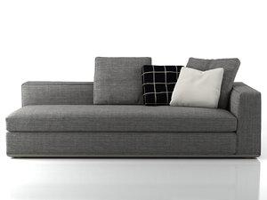 3D model powell sofa
