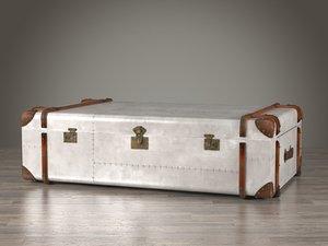 3D metal trunk table model