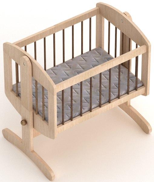 baby cot 3D