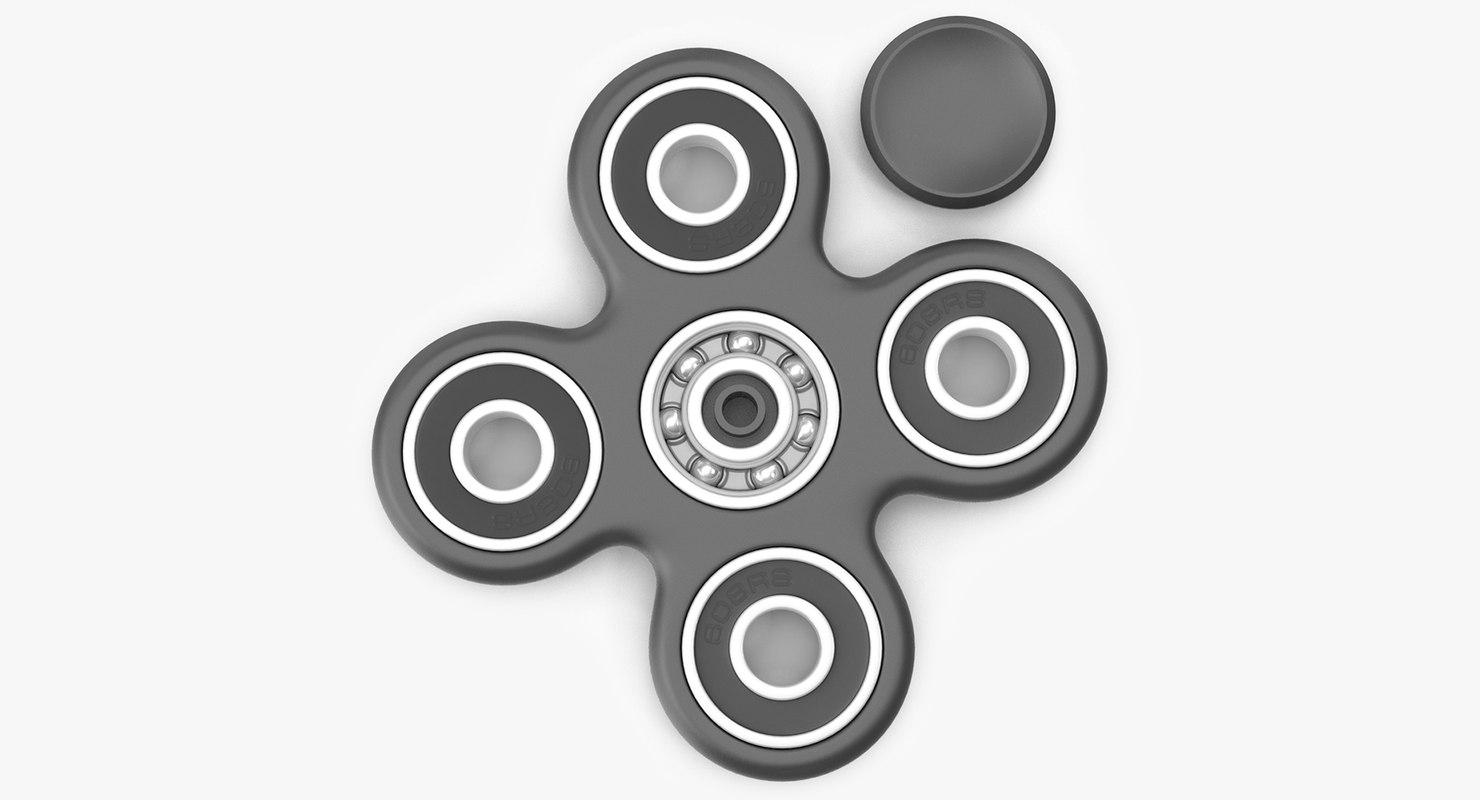 3D spinner fidget
