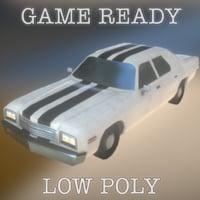 3D pbr large american car model