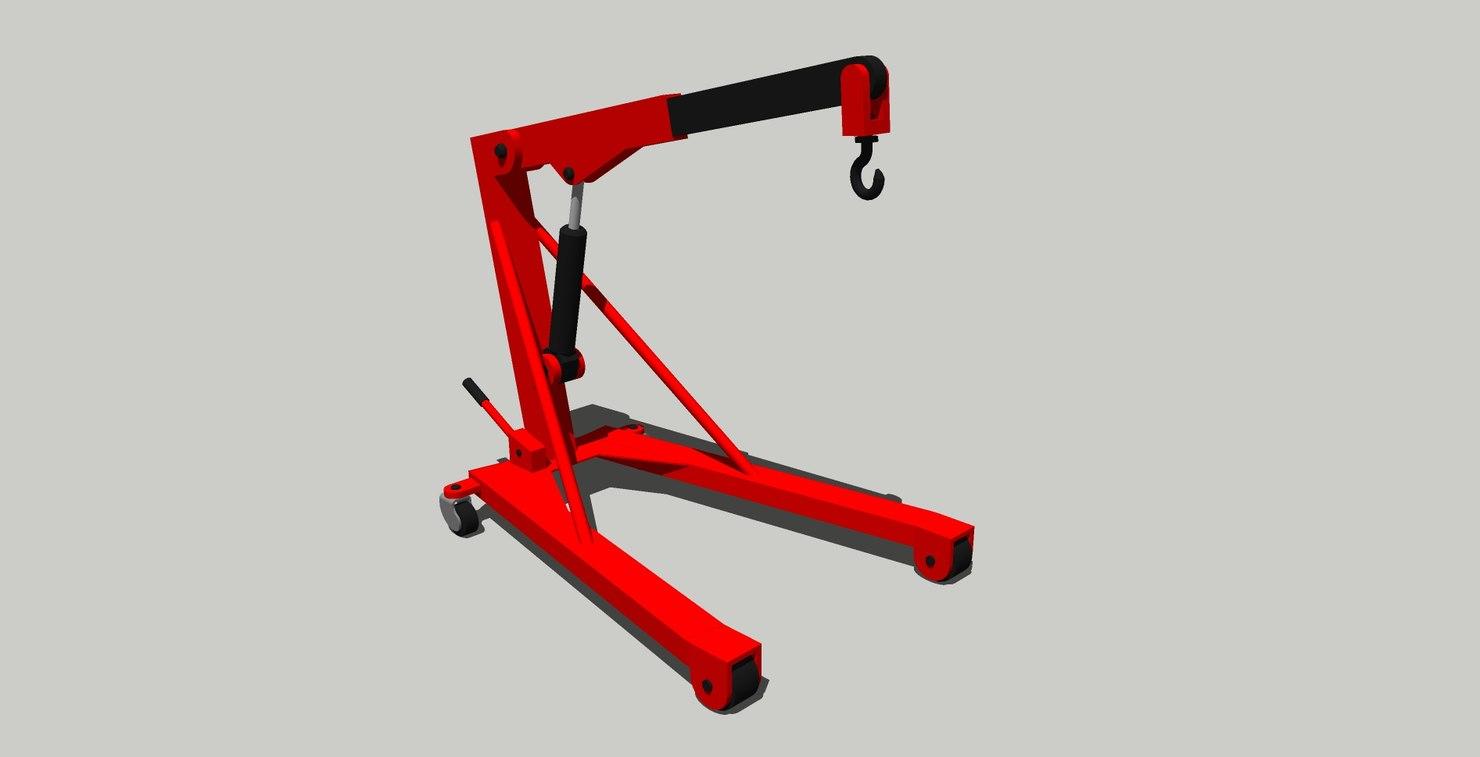 3D model grua motor