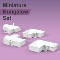 residential bungalows 3D model