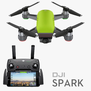 dji spark controller iphne7 3D model