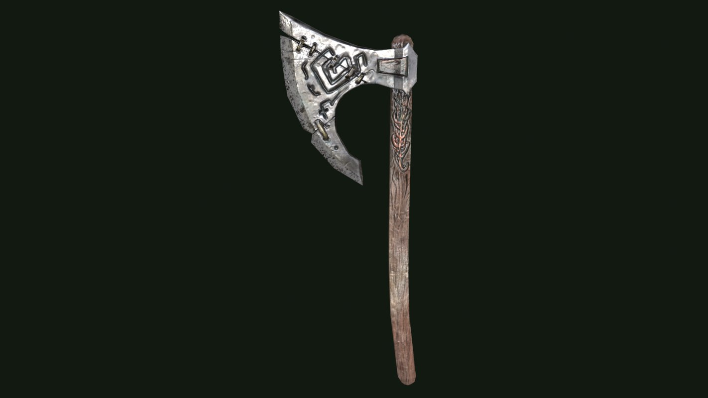 3D battle axe