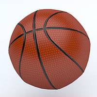 basketball emojis 3D model
