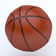 basketball emojis 3D model
