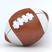 3D american football