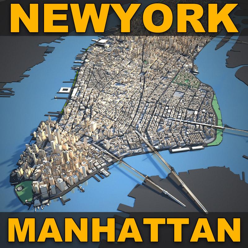 Map Of New York 3d.Newyork City 2