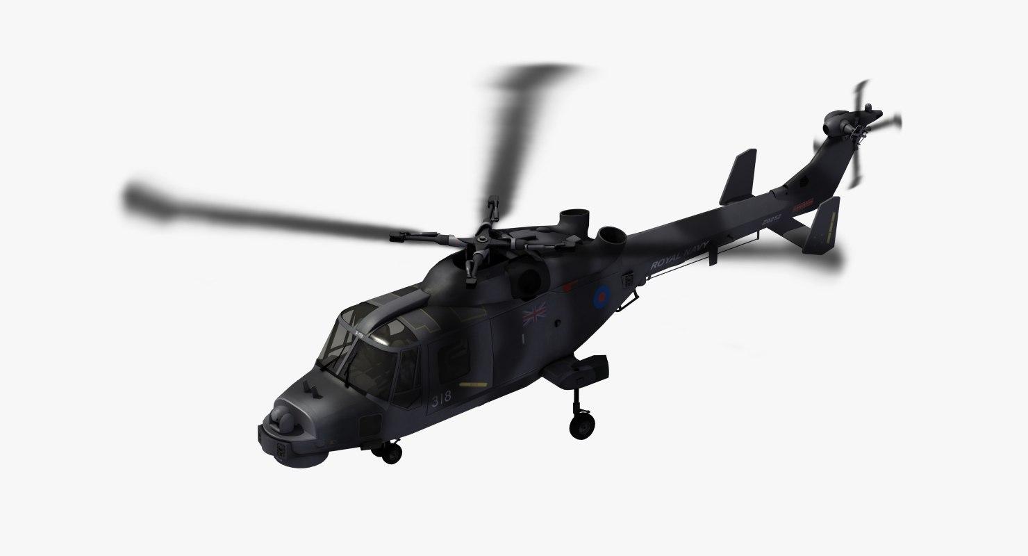 3D aw159 wildcat royal navy