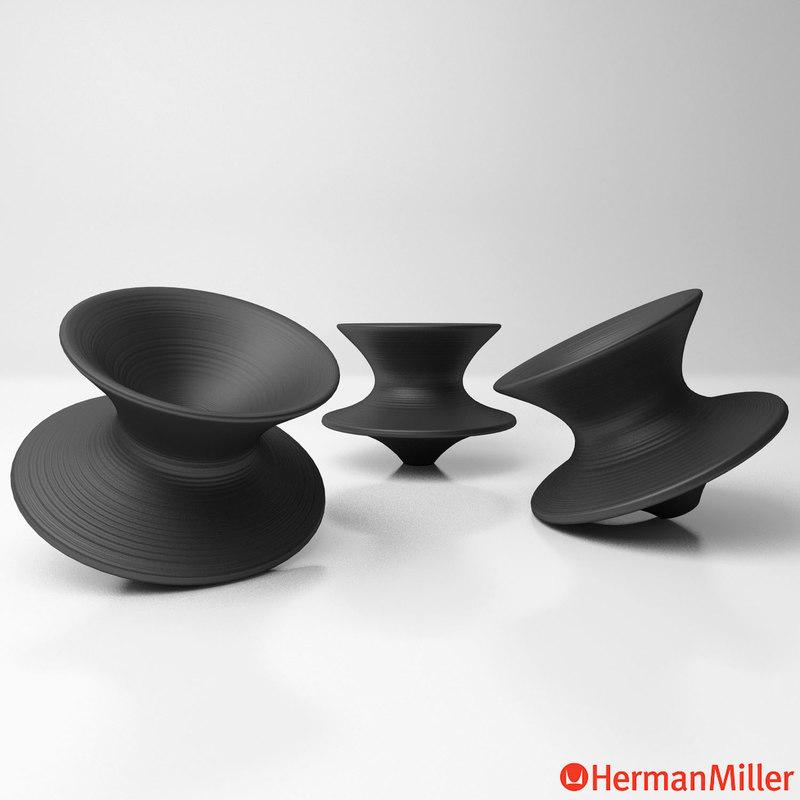 3D Hermanmiller Magis Spun Chair Model