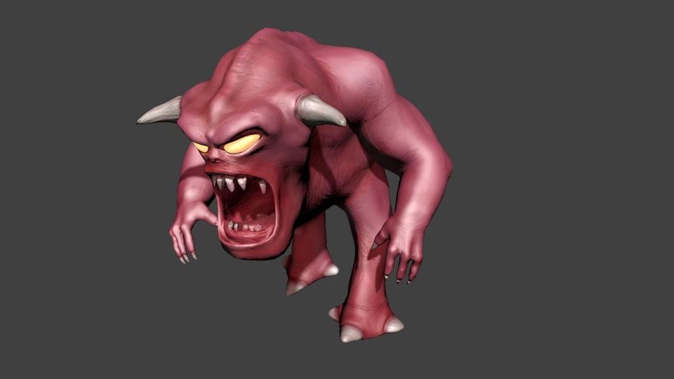 3D pinky demon