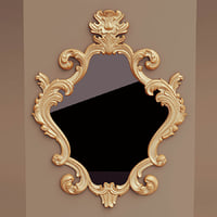 antique wall mirror 3D