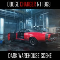 1969 Dodge Charger in Dark Garage Environment