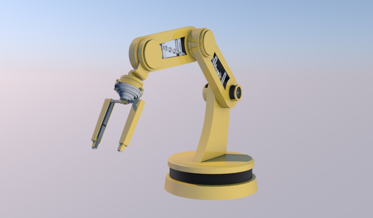 3D cool robot arm
