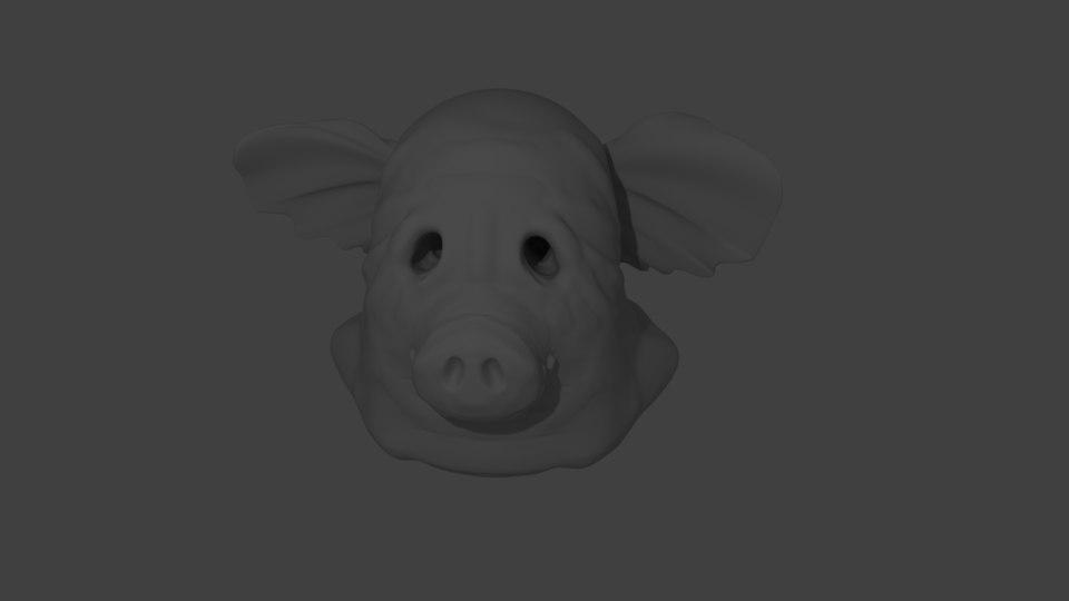 pig mask 3D model