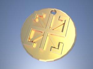 slavic amulet radinec 3D