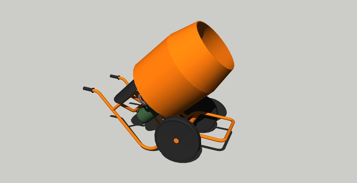 concrete mixer 3D