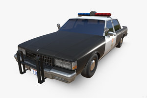 chevrolet caprice police edition 3D model