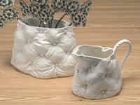 3D sg padded vases